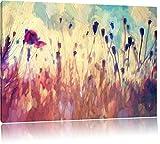 Pixxprint Mohn im Weizenfeld Kunst Pinsel Effekt, Format: