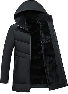 メンズ ダウンコート 中綿 コート 秋冬 厚手 ダウンジャケット フード付き 無地 防風 防寒 アウトドア 大きいサイズ