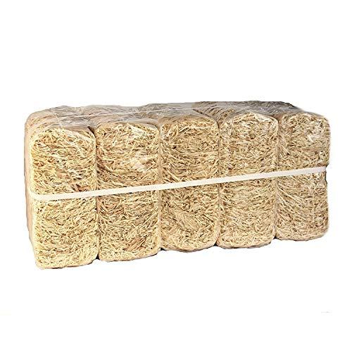 10kg Holzwolle unbehandelt PEFC Zertifiziert * sehr hell * Polsterwolle * Füllstoff * Füllmaterial * aus Deutschem Wald - von unipak