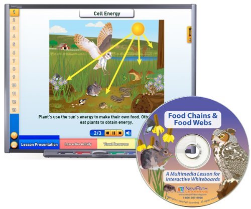 NewPath Learning Food Chains and Food Webs Multimedia Lesson, Single User License, Grade 6-10