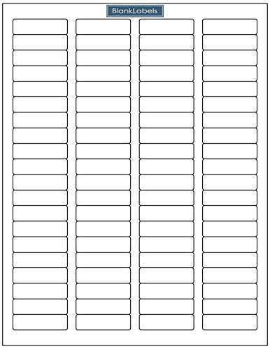 1.75 Inch x .50 Inch Blank Labels Brand Return Address Labels 80 Per Page - Sheets of Word Template Size Return Address Labels. Laser and Ink Jet Printer Compatible 40000 (500 Sheets)