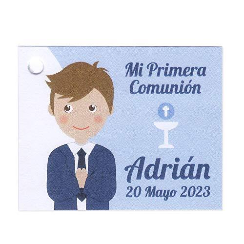 Etiquetas para detalles Comunión niño. Pack 25 udes. Detalles de Pri