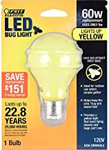 FEIT Electric A19/BUG/LED Non-Dimmable Led Bug Light, 5 W, 120 V, 400 Lumens, 2.35 In Dia, 4