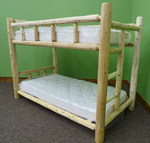 Midwest Log Furniture - Premium Log Bunk Bed - Twin Over Twin
