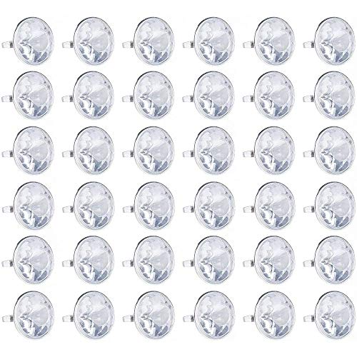 Blue Panda 36-Pack Bulk Jumbo Fake Diamond Rings for Kids Party Favors, Wedding, Bachelorette, & Bridal Decor