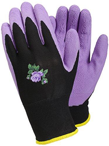 TEGERA [90068 pour Femme Violet Gants de Jardinage en Latex Hydrofuge Palm Taille 6 (XS)