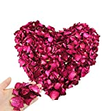 Hslife 150 Grams/ 5.3 OZ Natural Real Red Rose Flower Petals Dried Rose Petal for Wedding Decoration Bath Foot Bath Wedding Confetti Crafts Accessories