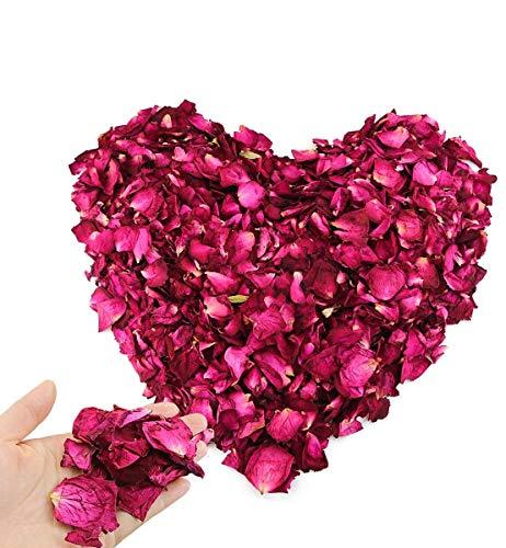 Hslife 150 Grams/ 5.3 OZ Natural Real Red Rose Flower Petals Dried...