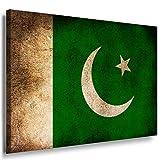 Flagge Pakistan Leinwandbild / LaraArt Bilder / Leinwand