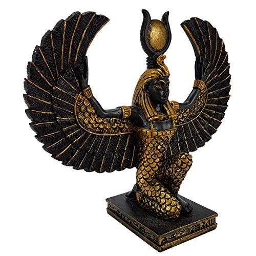 YTC Isis ägyptische Göttin kniend schwarz-Gold 13cm