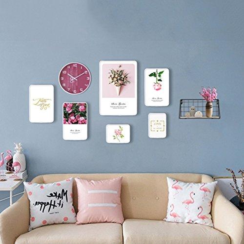Fotolijst Scandinavische fotowand met creatieve combinatiefotolijst van de woonkamer van de horlogekamer minimalistische sofaachtergrond
