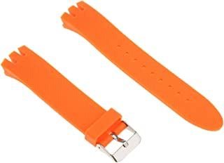 Baosity 20mm Silicone Rubber Waterproof Watch Strap Band With Stainles Steel Buckle