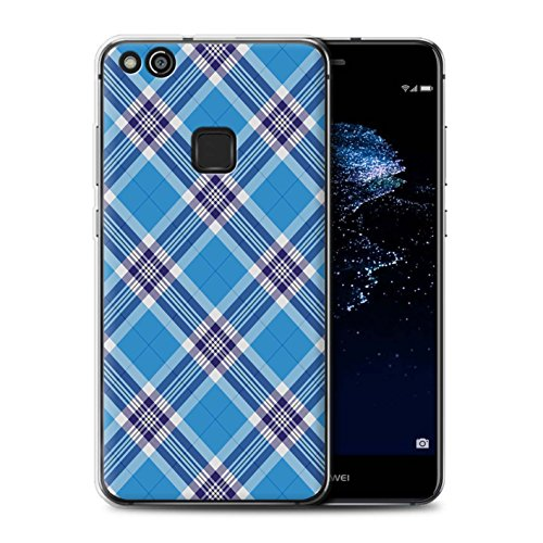 Stuff4® telefoonhoes/cover/skin / HUAP10LT-GC/tartan picknick patroon collectie Lichtblauw