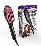 Genius Simply Straight Keramik Haar-Glätt-Bürste | Pink-Schwarz | 2 in 1 Glätteisen und Bürste | LCD-Temperaturanzeige bis zu 230 °C | Für alle Haartypen | TV-NEU