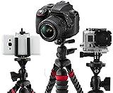 JC Wolf 12' 3-IN-1 Flexible Tripod - Grip Camera, Smartphone & Go Pro Compatible