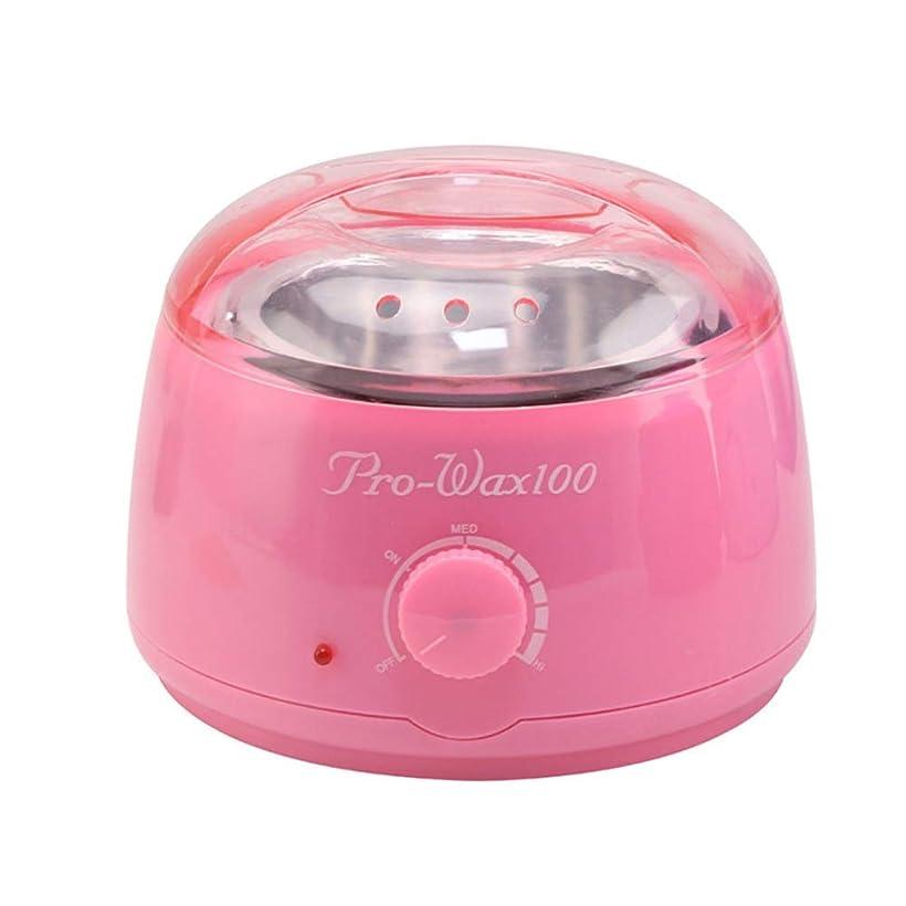 副栄光将来のプロフェッショナル暖かいワックスヒーター脱毛ツールミニスパ手足パラフィンワックス機ボディ脱毛ワックス豆ホットワックス脱毛脱毛ワックス機500CC (Color : Pink)