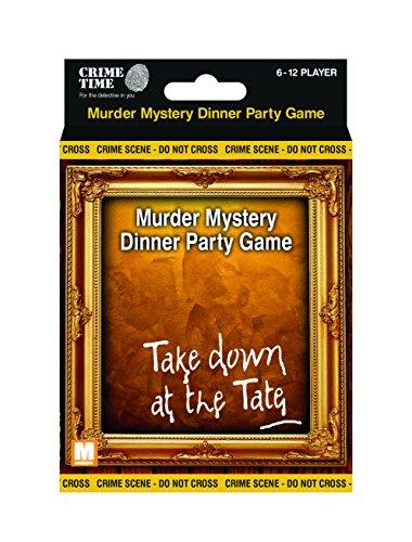Prendre vers le bas at the Tate - Meurtre mystère boite cadeau - téléchargeable jeu pour 6,8,10 ou 12 joueurs