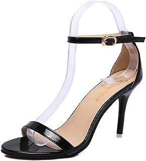ab38b2efc50b78 JITIAN Chaussures Talons Hauts Aiguilles Escarpin Bride Cheville Sangle  Boucle Femmes Sandales Ouvertes