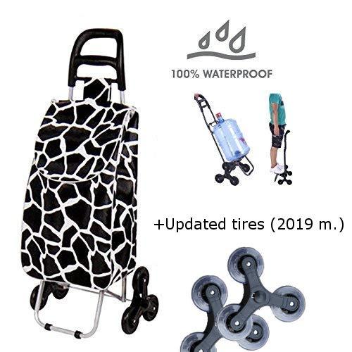 Tavalax Carrito de compras plegable & 6 ruedas & Carrito de compras con escalera & A prueba de agua & Carro de la compra plegable: Amazon.es: Hogar