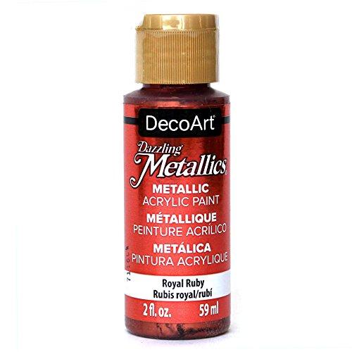 DecoArt Americana Acrylic Metallic Paint, Royal Ruby