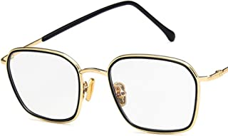 Unisex Glasses Frame Fashion Gold Black Rectangle Full Frame Decoration Prescription Glasses