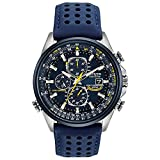 Citizen Eco-Drive World Chronograph A-T Mens Watch, Stainless Steel with Polyurethane strap,...