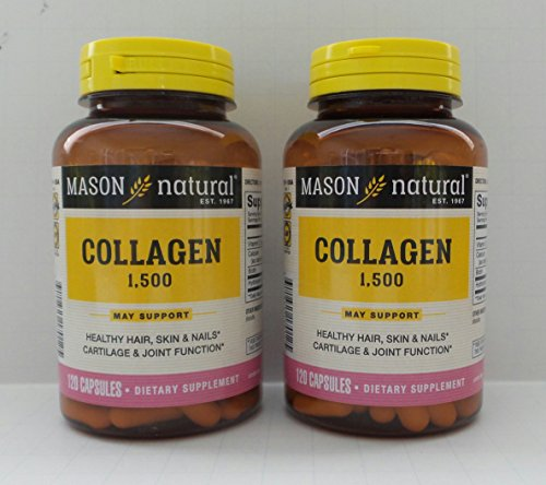 Mason Vitamins, Collagen, Plus Biotin & Vitamin C, 1500, 120 Capsules(pack of 2) by Mason Natural