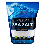SaltWorks Pure Ocean Sea Salt, Extra Coarse Grain, 5 Pound Bag