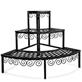 Tiered Plant Stand Outdoor Metal 3 Tier Stands for Multiple...