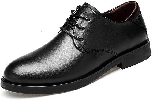 WEATLY Hommes d'affaires d'affaires De Chaussures en Cuir Chaussures De Mode Chaussures De Mariage Baita (Couleur   Noir, Taille   43)  venez choisir votre propre style sportif