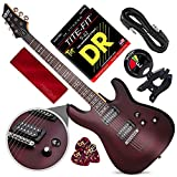 Schecter OMEN-6 6-String Electric Guitar (Walnut Satin) with Clip-On Tuner and...