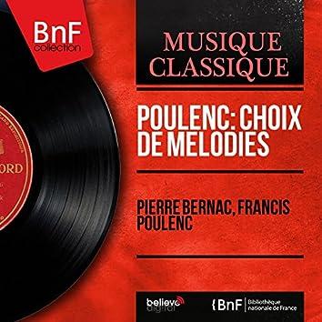 Poulenc: Choix de mélodies (Mono Version)