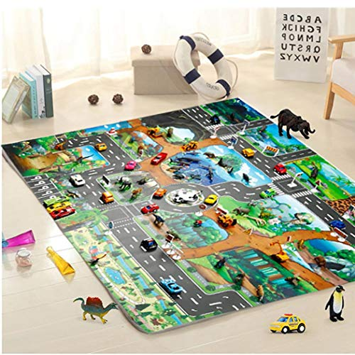 Lanbter Kids Map Taffic Animal Play Mat Baby Road Carpet Home Decor Educational Toy Baby Gyms & Playmats