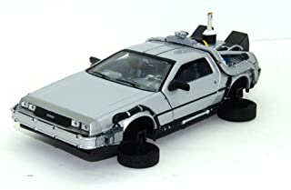 Welly - Regreso al Futuro II - Maqueta del Delorean LK Coupé 1981 con Ruedas voladoras (Escala 1:24)