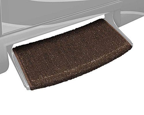Prest-O-Fit 2-0203 Wraparound Radius RV Step Rug Espresso Brown 22 In. Wide