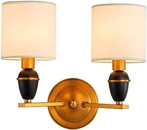 LED Moderna Lámpara de Pared Lámpara de pared Nuevo chino doble lámpara de pared dormitorio de cabecera lámpara de pared TV TV de hierro forjado interior lámpara de pared lámpara de pasillo lámpara