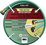 Swan Produtcs CSNLHFF5806CC Hose Reel Leader Hose with Female Connections 6' x 5/8', Green