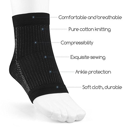PEDIMEND Compression Foot Sleeves Ankle Arch Support Socks (2PAIR) - Pain Relief from Plantar Fasciitis/Arthritis/Sprains/Swelling/Tendonitis/Muscle Fatigue Foot Care (Small: UK 5 – 9.5)