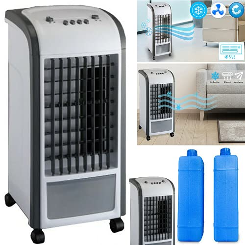 ARAZO 3.5L Air Conditioner Fan Table Fan With Multi Speed Setting Anti Dust Filter Air Humidifier...