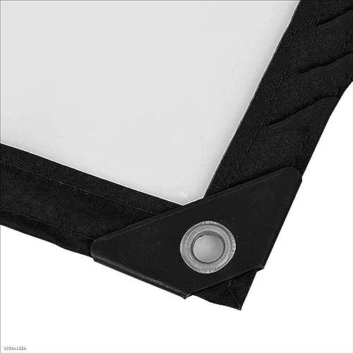 DENGDAI Tissu imperméable Transparent avec Une Tente de verrière imperméable à la boutonnière, Couverture de Piscine 120 g m 2,4m×8m