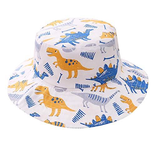 Boné infantil com estampa de dinossauro da Pretyzoom com proteção solar para bebês, chapéus de proteção solar para crianças, praia, balde, chapéus de praia para uso ao ar livre, para crianças pequenas, acessório de foto, 1 peça