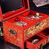 Caja de madera hecha a mano con llave oculta y ext Caja de joyería china, caja...
