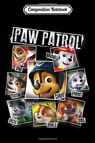 Composition Notebook: Paw Patrol Polaroid Photo Collage Nickelodeon Funny Journal Notebook Blank Lined Ruled 6x9 100 Pages