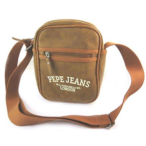 Pepe Jeans [N6066 - Sac bandoulière marron vintage - 25x20x6 cm
