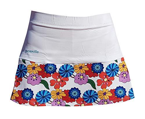El Gusanillo - Falda de pádel o Tenis para lucirte en la Pista - Modelo Lule Blanca