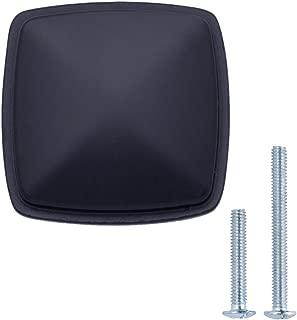 "AmazonBasics Traditional Square Cabinet Knob, 1.25"" Diameter, Flat Black, 25-Pack"