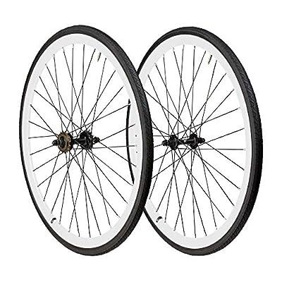 6KU 700C Deep V Alloy Fixie Wheelset