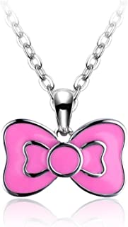 Bow honey baby child925 Silver Pendant/ the little girl princess gift necklace