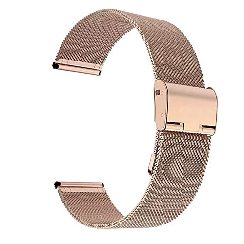 TKPOLD 22 mm 20 mm Strap de Banda de Reloj para Samsung Galaxy Watch Active 2 Band para Samsung Gear S3 Strap para Samsung Galaxy Watch 42mm 46mm (Band Color : Rose Gold, Band Width : 20mm)