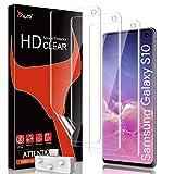 TAURI 3 Pack Protector de Pantalla para Samsung Galaxy S10 HD Screen TPU Protector Anti-Oil y Anti-Huellas Doble Protección alineación Instalación fácil Sin Burbujas